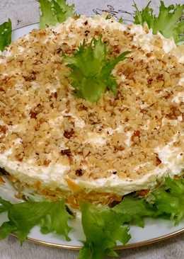 Салат с печенью и черносливом (без майонеза) - хочется попробовать!