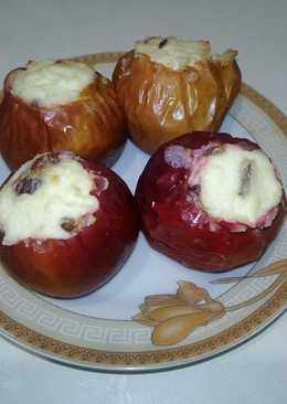 Яблоки запеченные с творогом