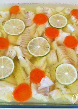 Заливное из белой рыбы