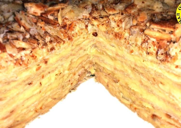 Императорский торт Наполеон с заварным кремом