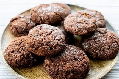 Шоколадные печенья без муки, без молочных продуктов, без сахара, без яиц и без глютена #пп