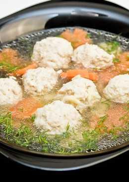 Суп с фрикадельками на курином бульоне. Куриный суп с фрикадельками. Быстрый суп