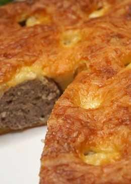 Пирог с фрикадельками за 7 минут
