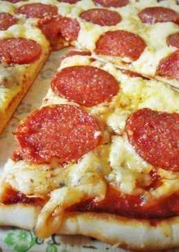 Пицца на тонком хрустящем тесте