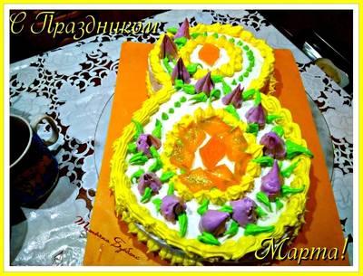 Торт на 8 МАРТА