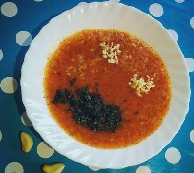 """Томатно-морковный суп-пюре """"Оранжевое настроение"""""""