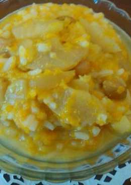 Рисовая каша с тыквой и яблоком