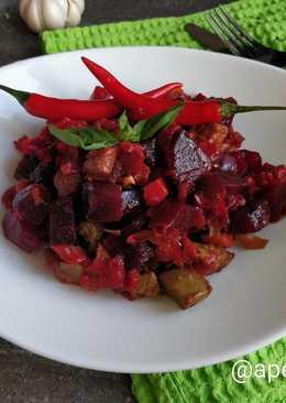 Острое овощное рагу по-индийски с индейкой