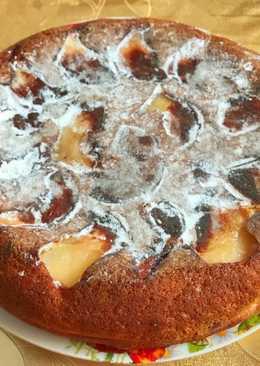 Запеканка с изюмом, орехами и яблоками