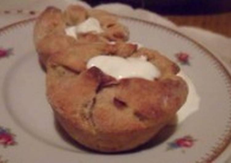 Картофельные пирожки-кексы с капустой