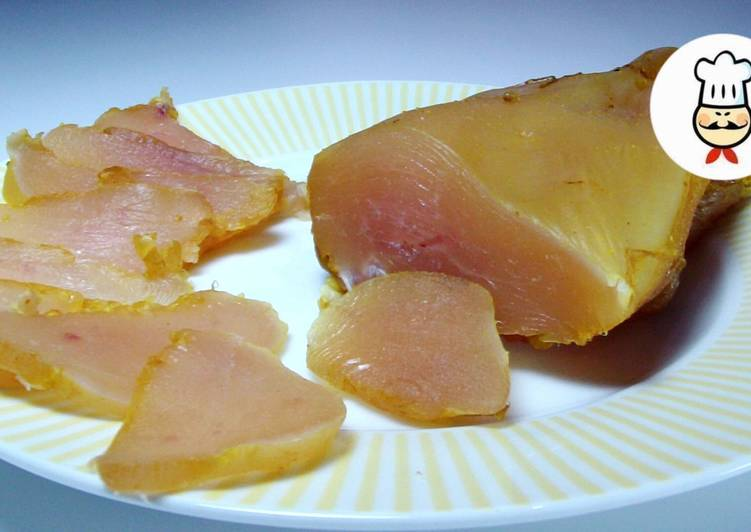 Куриный балык к новогоднему столу - самый простой рецепт вяленого куриного филе