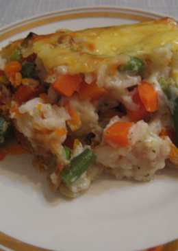 Овощная запеканка с рисом