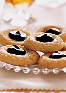 Постное медовое печенье с джемом