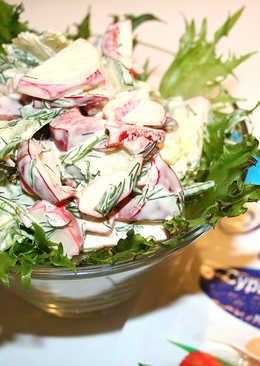 Легкий салат из крабового мяса Vici