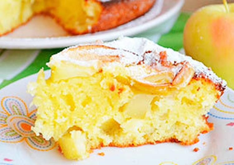 пирог шарлотка творожная рецепт с яблоками