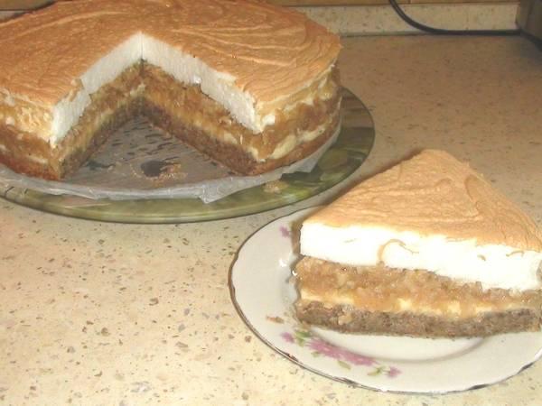 Кремовый яблочный пирог-торт