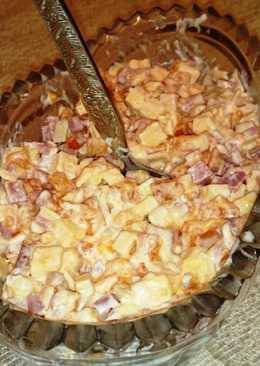 Салат с хурмой, простой рецепт - оригинальный нестандартный вкус
