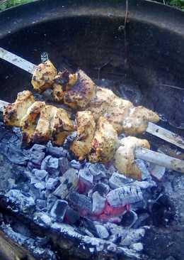 Куриный шашлык, в маринаде из киви