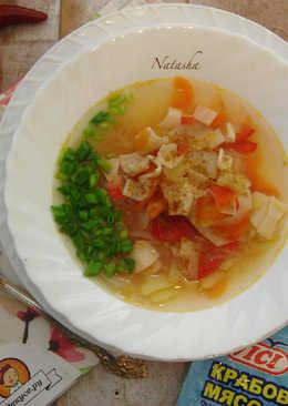 Весенний суп с крабовыми палочками