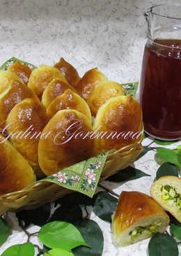 Пирожки с яйцом и зеленым луком #кулинарныймарафон