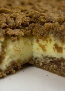 Тёртый чизкейк с начинкой из сливочного сыра