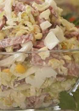 Салат с Пекинской капустой и колбасой. Невероятно просто и ООочень Вкусно