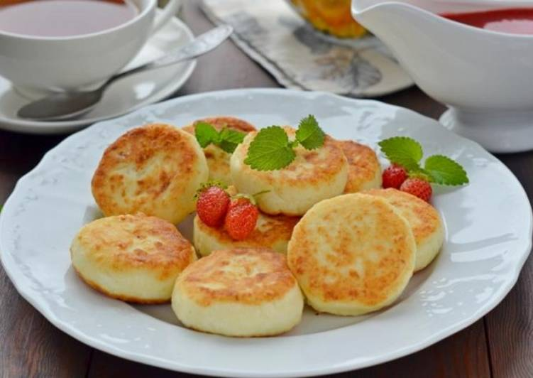 Творожники рецепт классический на сковороде с яблоками #9