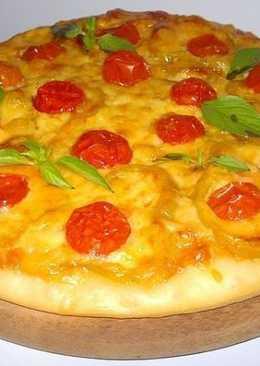 Пицца с ветчиной, болгарским перцем