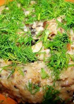 Грибы, жаренные с луком в сметане (Русская кухня)