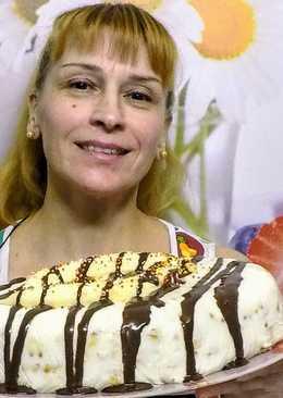 Банановый торт без выпечки вкусно и просто
