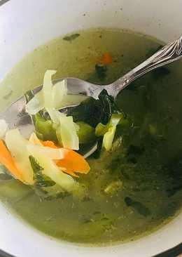 Овощной суп на курином 🍗 бульоне из минимума ингредиентов