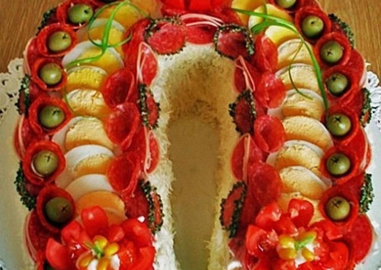 салат подкова фото рецептс грибами