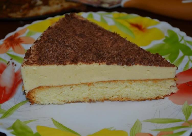 """Торт """"Птичье молоко"""" с бисквитом"""