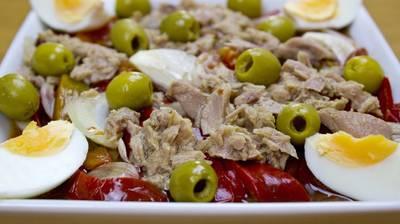 Салат из запечённых перцев. Испанская кухня