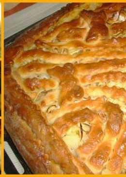 Вкуснейший пирог с семгой и рисом