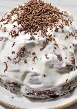Торт Панчо. Сочный шоколадный торт с ананасом и сметанным кремом