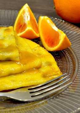 Блины в апельсиновом соусе
