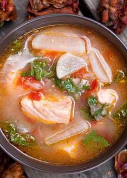 Уха из красной рыбы - рецепт