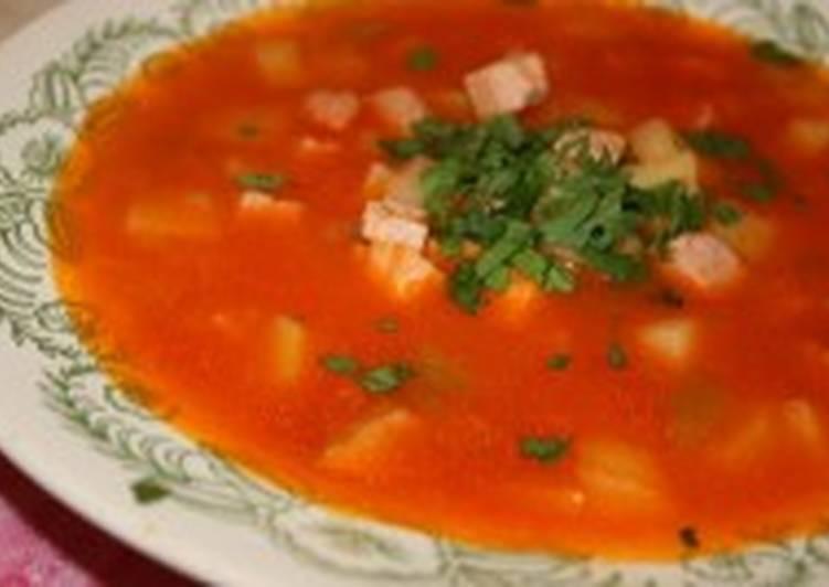 Суп из телятины с томатом