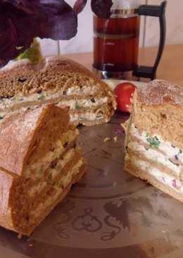 Королевский сэндвич со скумбрией и овощами
