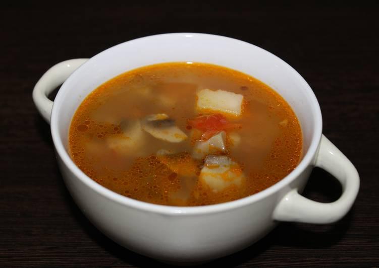 Гречневый суп с шампиньонами. Настоящее объедение