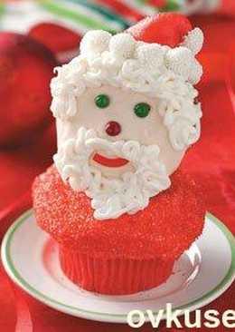 Кексы «Дед Мороз»