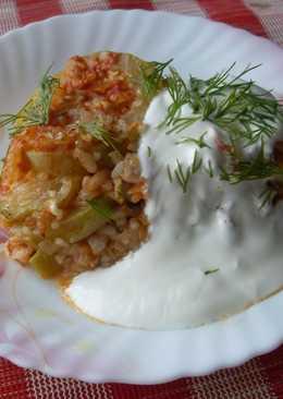 Запеканка из кабачков с рисом и фаршем