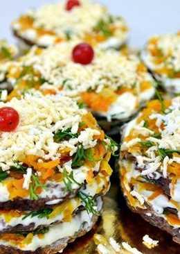 Печеночные мини-тортики – бюджетно, вкусно и красиво