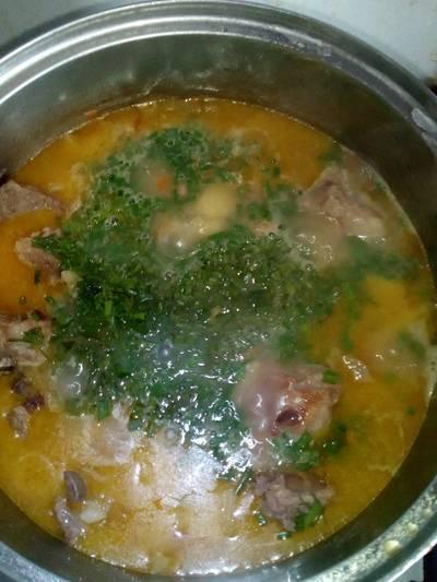 Тушеная картошка с ребрышками #кулинарныймарафон