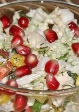 Салат с пекинской капусты и курицей