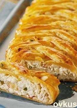 Слоеный пирог с крабовым мясом