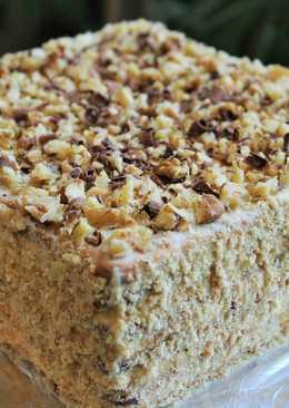 Торт из печенья без выпечки с кремом