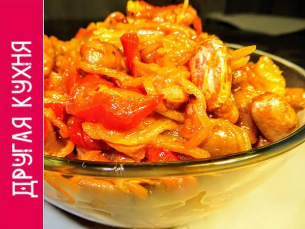 Салат с фасолью и овощами. Мамин рецепт!