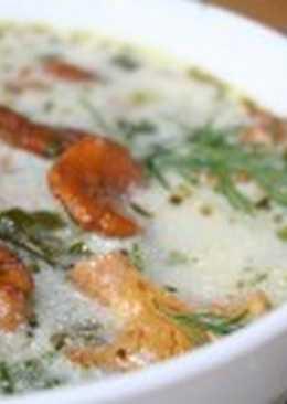 Румынский суп с картофелем и луком-пореем